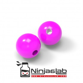 Plastic Beads Fluo Pink